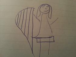 disegno arpa