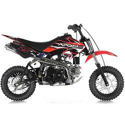 Dirt bike with training wheels