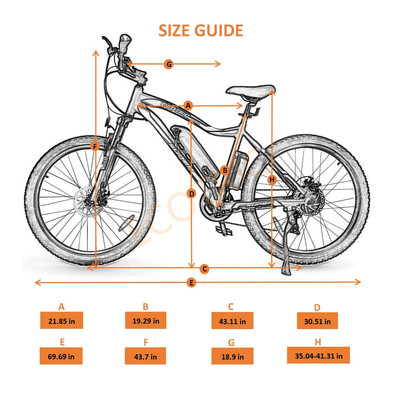 Ecotric Vortrex Size Guide