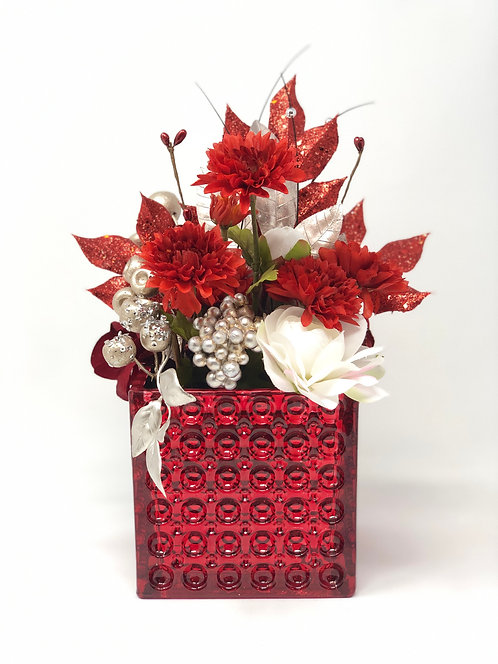 Red Glam Floral