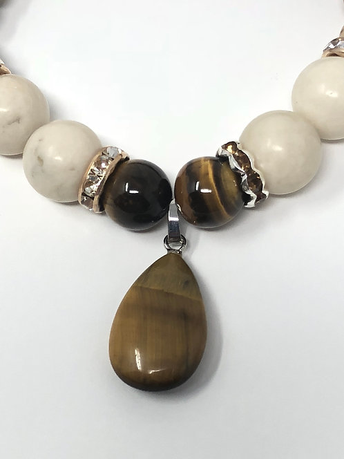 Medium Tiger Eye  Tear Drop Bracelet