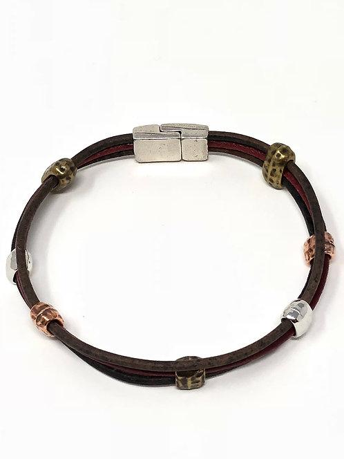 Tumbleweed Bracelet/Dk Brown & Wine