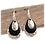 Thumbnail: Black and Silver Earrings
