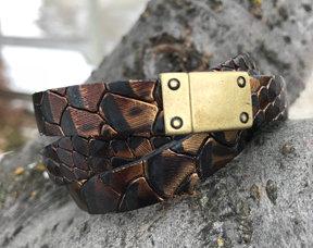 Croc Wrap Bracelet