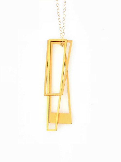 18K Gold Plated Trapezio Necklace