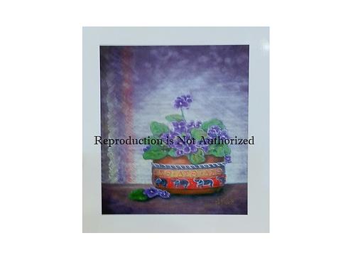 African Violets Print
