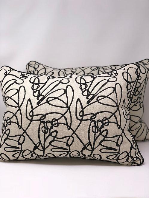 Cream and Black Pillows