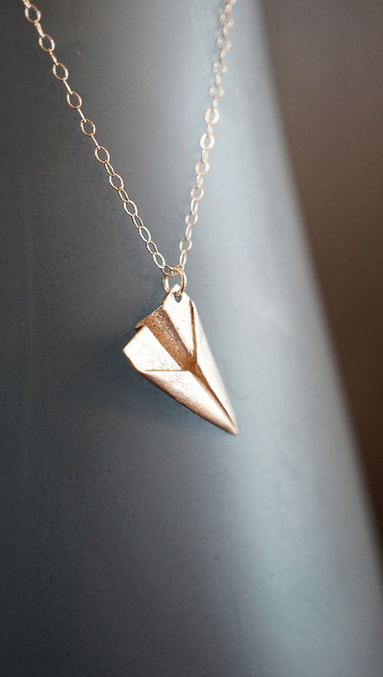 Paper Plane Necklace