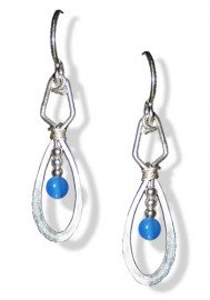 Purple and Silver Inner Space Earrings