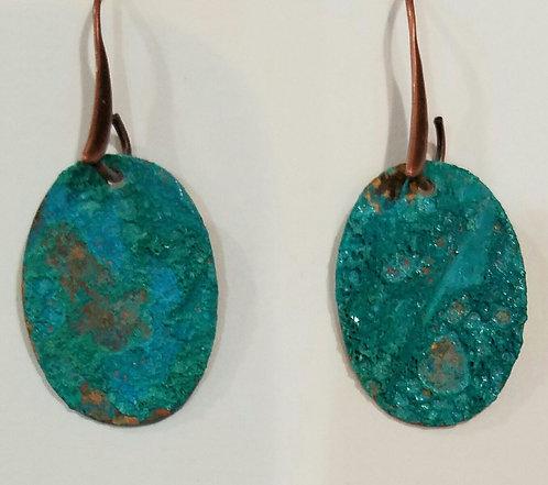 Sweet Oval Earrings - Byzentine Blue