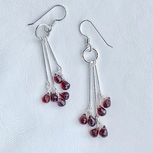 Utopia Garnet Drop Earrings