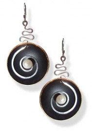 Hypnotic Cobalt Black and Pearl Earrings