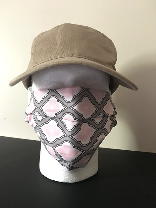 Adult Face Mask Pink/Gray