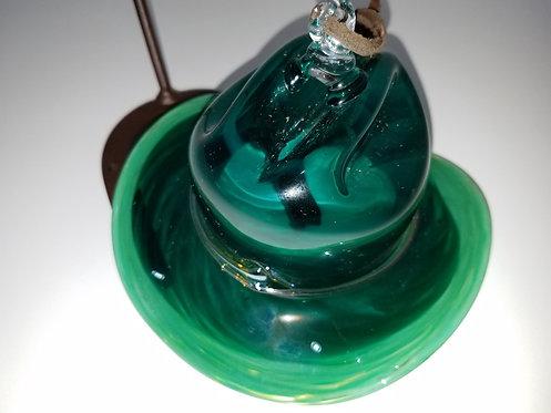 Two-Toned Jade Mini Ornament Cowboy Hat