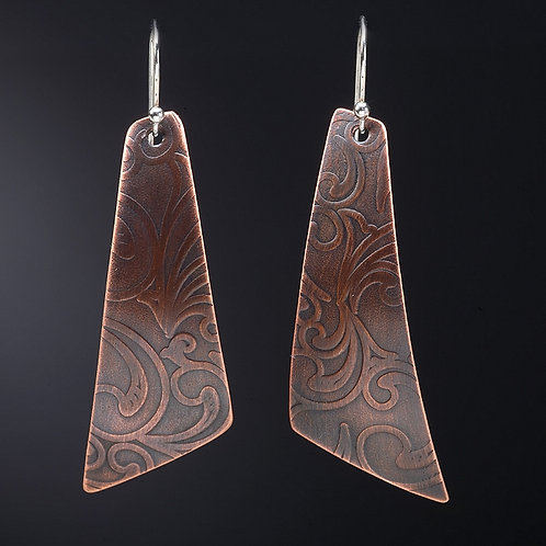 Large Angle Paisley Earrings