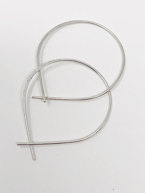 Mini Perfect Hoops in Silver