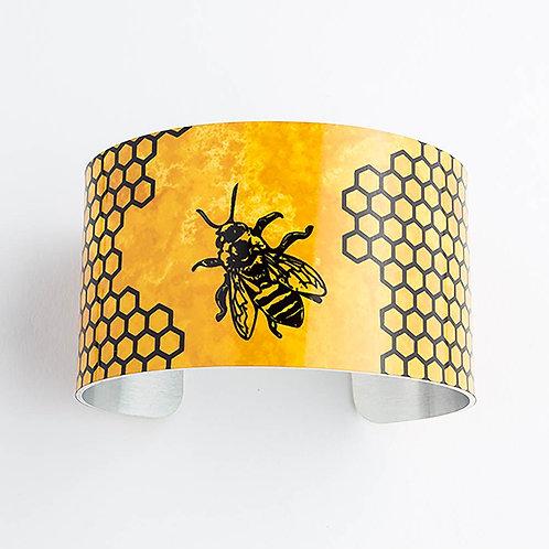 Honey Bee Wide Cuff Bracelet