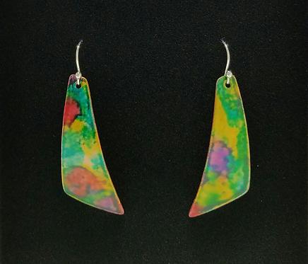 Large Angle Ripple Earrings