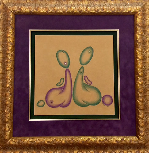 Custom Framed/Matted Purple Bubble Butts