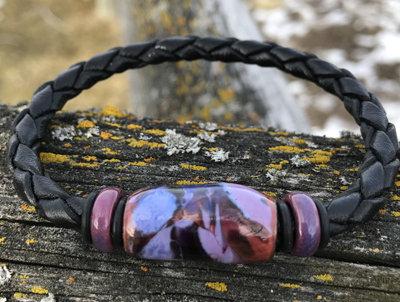 Huckleberry Black Leather Bracelet