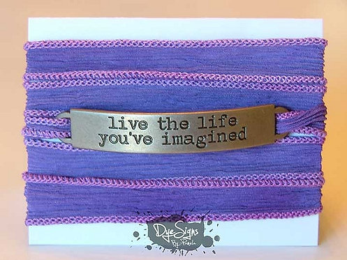 """""""Live The Life You've Imagined"""" Inspirational Silk Wrap Br"""