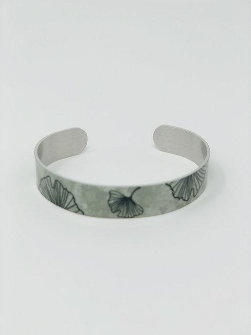 Ginkgo Thin Cuff Bracelet