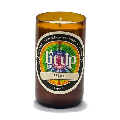 Karma Beer Bottle Candle