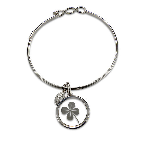 Float Four Leaf Clover Bracelet