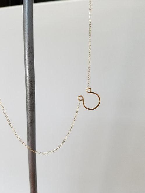 Gold Lucky Horseshoe Necklace