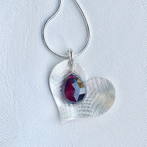 Large Love Garnet Necklace