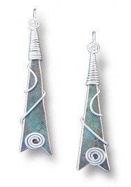 Upbeat Earrings Wrapped in Silver