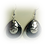 Thumbnail: Silver and Black Sparkle Earrings