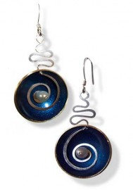 Hypnotic Cobalt Blue and Pearl Earrings