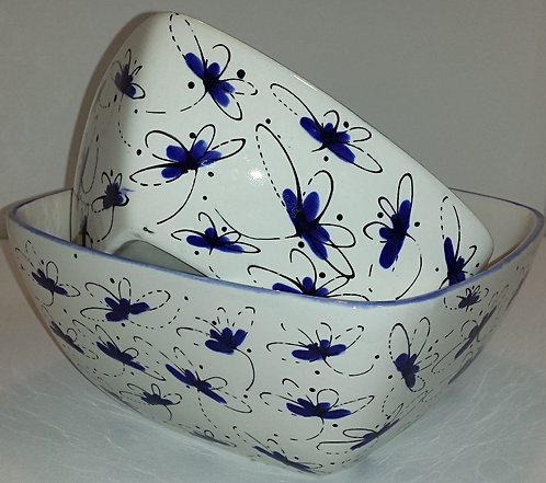 Dragonfly Cereal Bowl - Blue