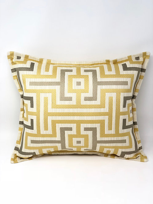 Yellow and Gray Geometric Pillows