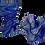Thumbnail: Large Cobalt Folded Glass Dish