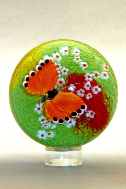 Orange Butterfly Paperweight