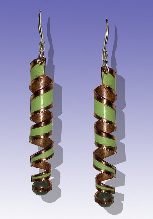 Copper Helix Earrings