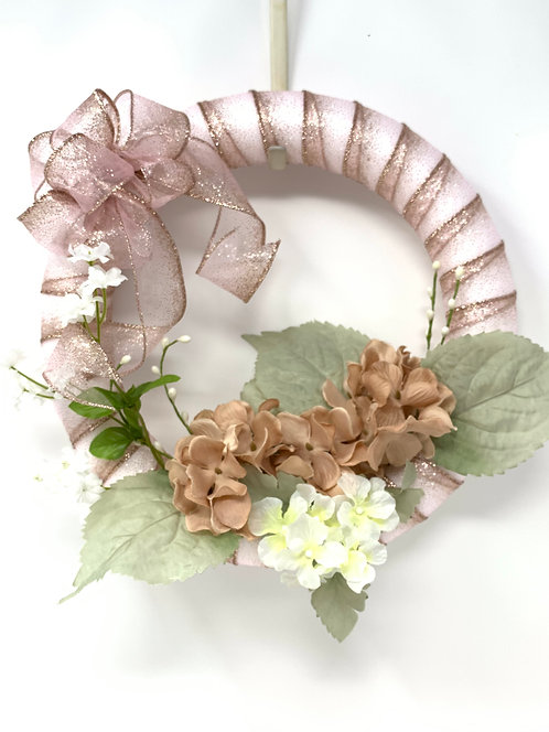 Metallic Rose Wreath