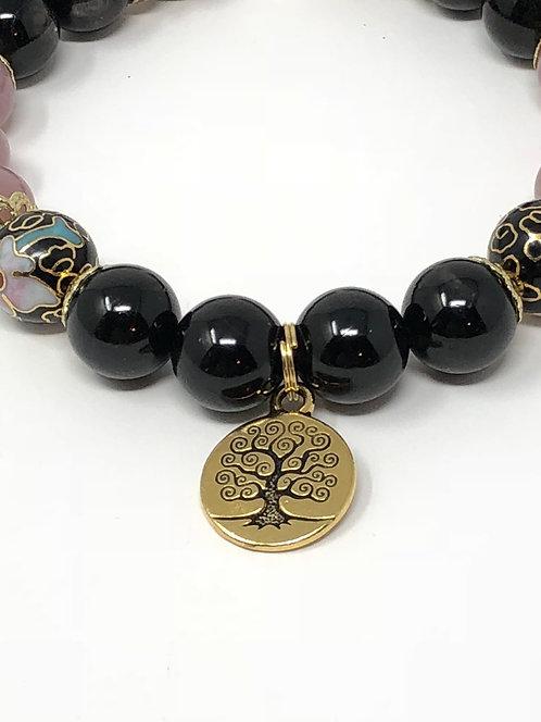 Cloisonne Vintage Flower Bracelet