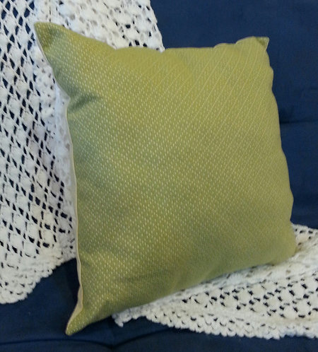 Two Tone Light Pea Green and Cream Pillow