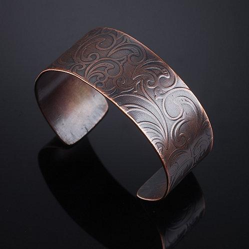 Simple Copper Paisley Bracelet