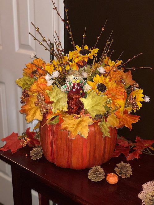 Large Fall Pumpkin Floral