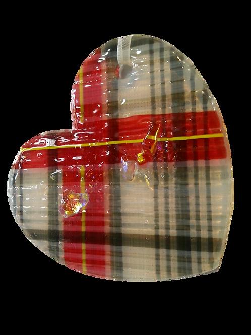 Heart Tartan Ornament