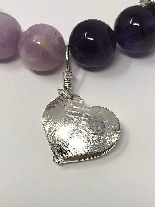 Purple Stretch Heart Bracelet