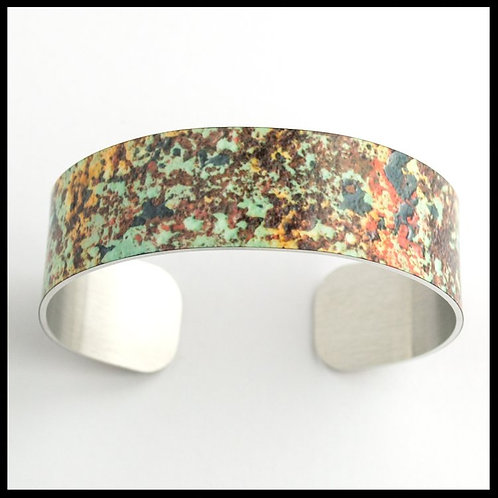 Green & Rust Medium Cuff Bracelet