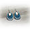 Thumbnail: Multi-Blue and Silver Earrings