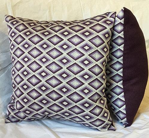 Purple Diamond Textured Pillows