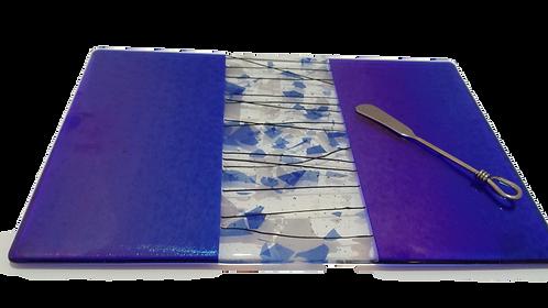 Blue Iris Platter w Spreader