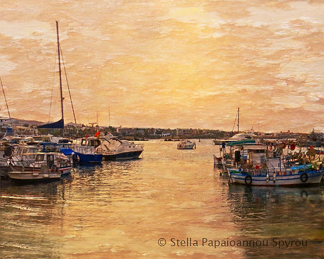 Evening at the Port Print
